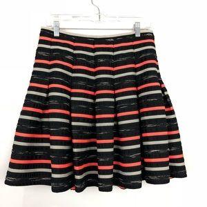 Anthro HD In Paris Stripe Circle Skirt
